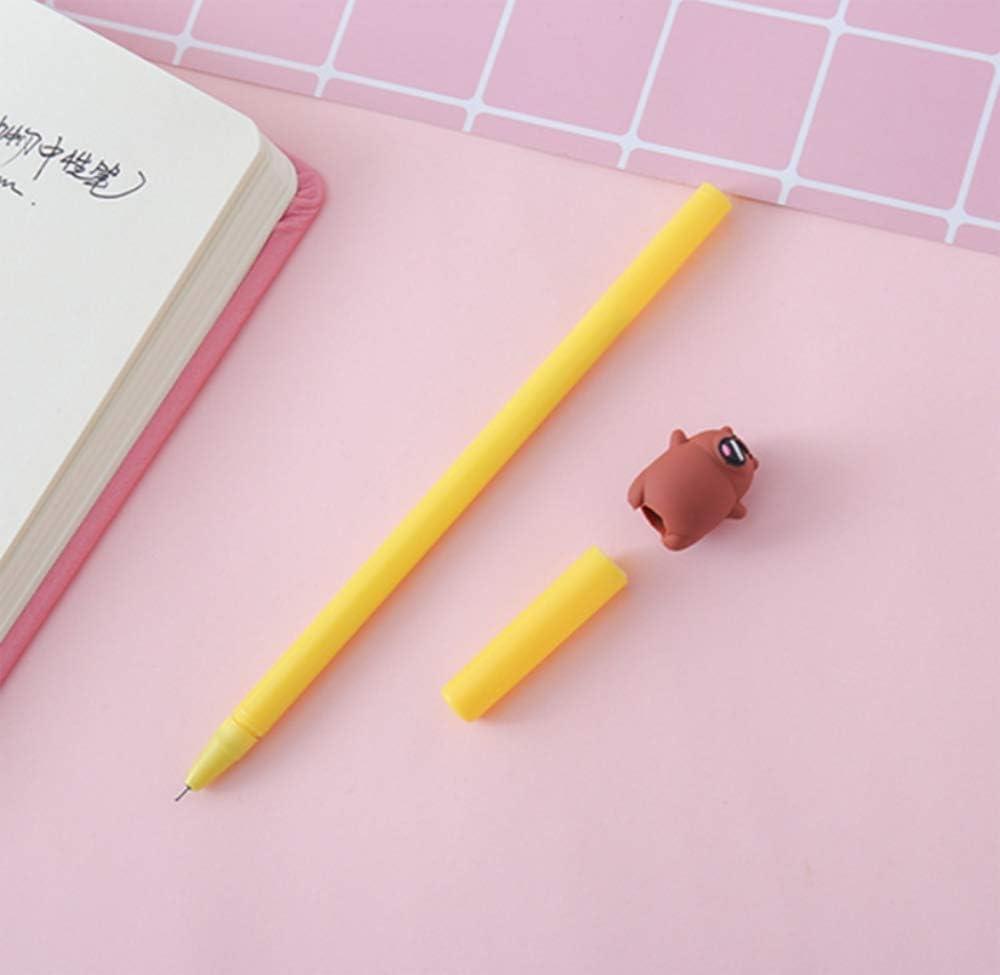 12 Pcs 0.5 mm Newest Cute Toot Bear Cartoon Doll Black ink Ballpoint Writing Pen Set Plastic Creative Gel Ink Pens for Office School Supplies Kids Drawing Pen Gifts for Boyplies Kids Drawing Pen Gifts