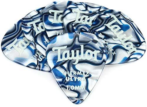 - Taylor Premium Darktone 351 Thermex Ultra Guitar Picks 6-pack - Blue Swirl 1.00mm