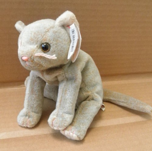 TY Beanie Babies Scat the Cat Stuffed Animal Plush Toy - 8 inches long by Smartbuy from Ty