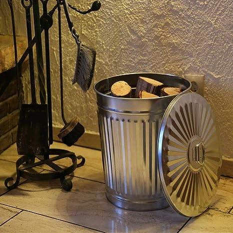7 litri bianco /Ø 21,5 cm Home/&Decorations YJ13-1058-009 bidone della spazzatura con manici altezza 21,5 cm