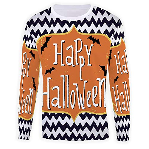 Men's Crewneck Halloween Sweatshirt Printed Long Sleeve Pull-Over Top]()