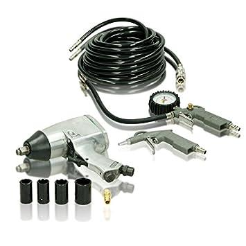 ECD Germany Set de Pistola neumática para Cambio de Ruedas LLave de Impacto Inflador de Neumáticos: Amazon.es: Bricolaje y herramientas