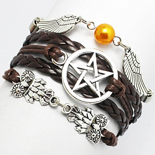 Bracelet  Angel Wings  Wing  Owls  Pagan And Wiccan  Dean Winchester  Supernatural  Star Bracelet Friendship  Bridesmaid Gif  Brown