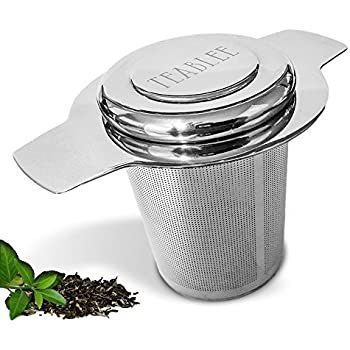 Teablee Tea Infuser Loose Leaf Strainer 304 Stainless Steel Extra-Fine Mesh with Lid