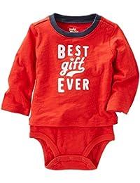 OshKosh B'gosh Unisex Baby Single Bodysuit 11511011, Red, 18M