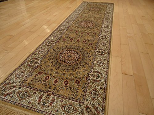 Amazon Com Stunning Silk Persian Runner Rug Gold Runners 2x8 Silky