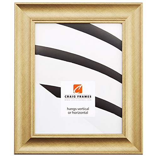 Craig Frames Vintage Revival, Brushed Gold Picture Frame, 24