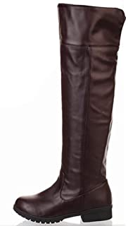307c8024a33 Amazon.com: Mens Thigh High Boots Black Leather Pirate Costumes ...