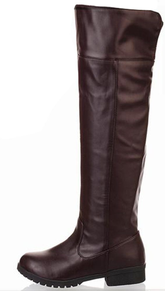 Ace Men's Cos-Play Knee-high Boot Riding Boots (11, Brown)