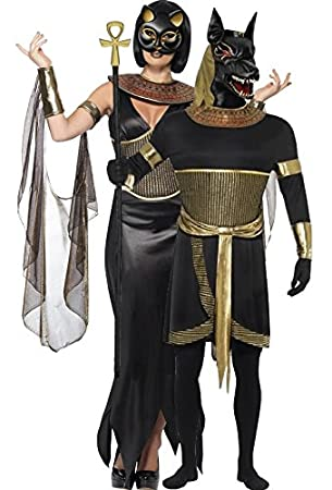 couples ladies mens egyptian god goddess anubis bastet jackal cat feline animal halloween fancy dress