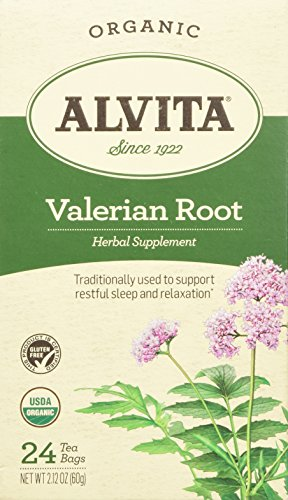 Valerian Root Tea (Alvita Organic Herbal Valerian Tea, 24 Count)