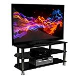 Mount-It! Glass TV Stand For F
