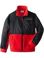 (抢低)$15.91,Columbia少年抓绒上衣 黑 Big Boys' Steens Mt Overlay Jacket