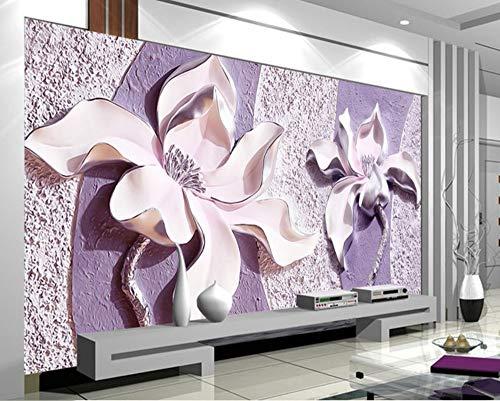 CIQZL Custom Photo Wallpaper 3D Stereoscopic Flowers Living Room Sofa Backdrop Wall Murals Wall Paper Modern Home Decor Room Landscape-450cmx300cm