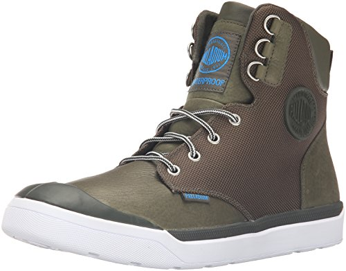 Palladium Army Pallarue WP Cuff Rain Men's Boot Green HI wv67rwB