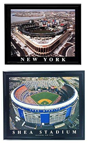 Framed New York Mets Citifield and Shea Stadium Photos (SET OF (Shea Stadium Baseball)