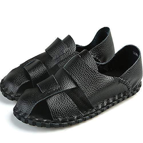 spiaggia Sandali 24 pantofole 27 Traspiranti da Nero Scarpe 0 Uomo Beach Slip 5 Shoes Light Casual Casual CM Nero Sandali Wagsiyi Da Rpfw5