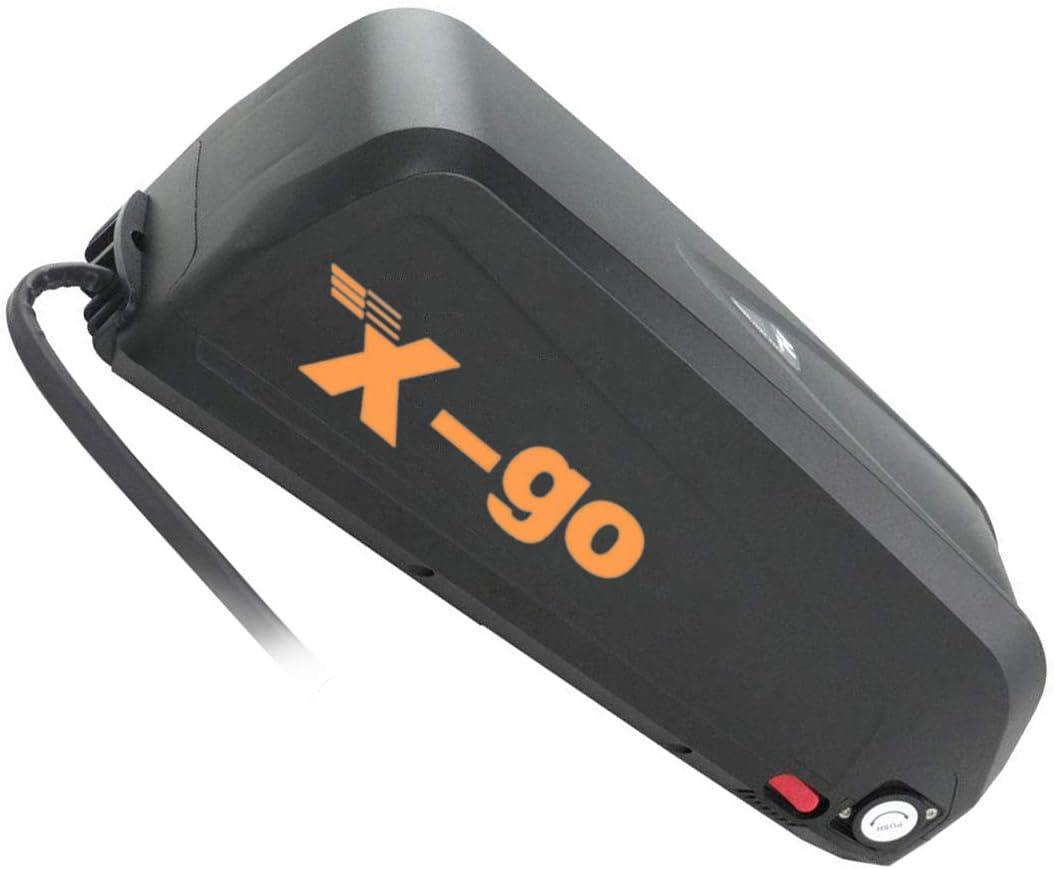 X-go Bateria para Bicicleta Electrica 48V 13AH Bateria Bicicleta Electrica 48V 1000W Adecuado para Motor De 1000W ,Cargador(Tablero de Protección de BMS)