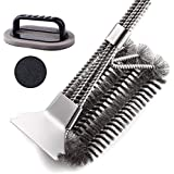 """XINYI Grill Brush and Scraper,18"""" Stainless Steel Safe Grill Cleaner-Bristles Grill Brush Wire BBQ Cleaning Brush Good for Gas Charcoal/Gift Sponge Brush"""