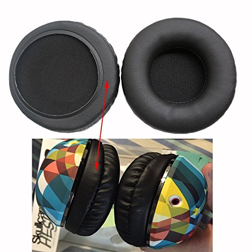 Aleicx Skullcndy Hesh 2 Headphone Covers, Ear Pads Ear Cups Replacement Cover for Skullcandy HESH2.0 HESH2 Hesh Headphones(Headset Cushion) Nondestructive Quality Fur Earmuffs (Black)