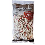Pride Professional Tee System, 2-1/8 Inch Shortee Golf Tees - 120 Count Bag (Red on White)