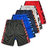 American Legend Mens Active Athletic Performance Shorts - Set 4-5 Pack, L, Assorted Colors