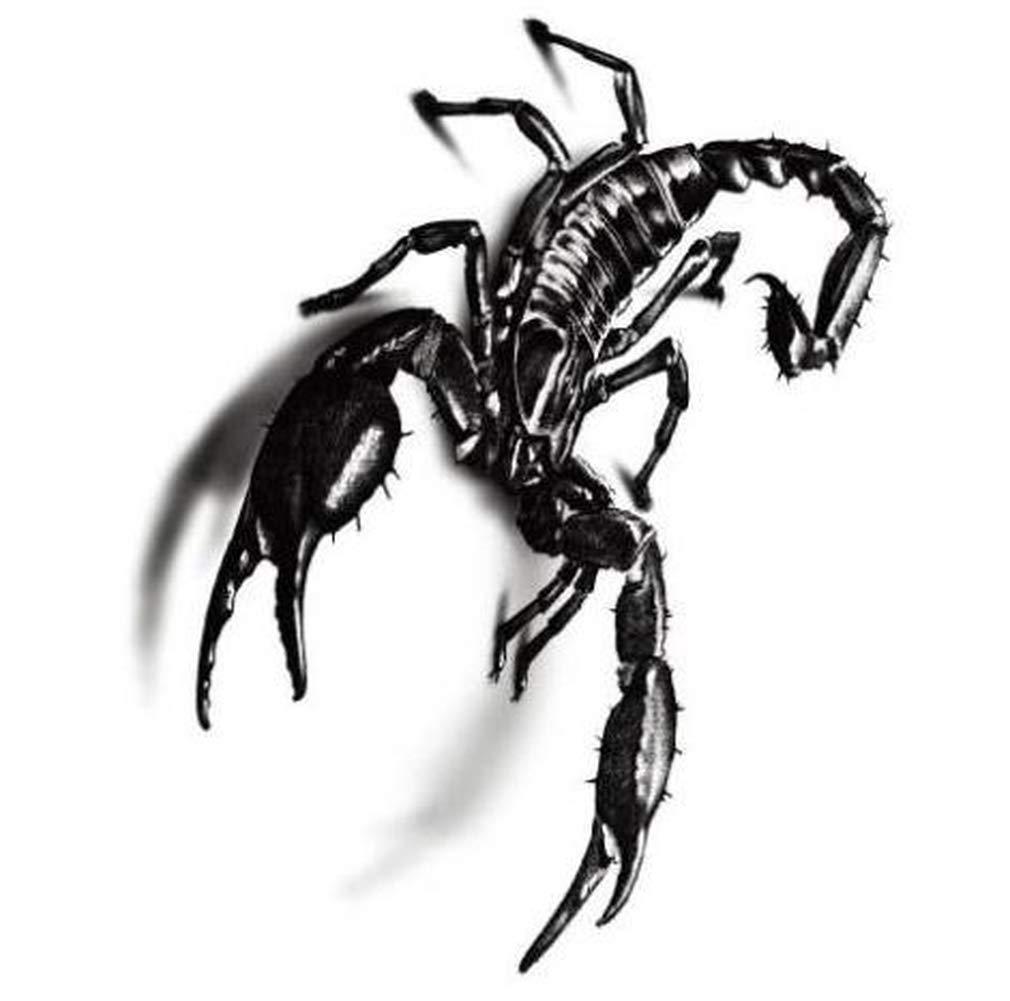 Yevison 6PCS Personality 3D Black Scorpion Temporary Tattoo Body Art Tattoo Body Stickers Fake Tattoo