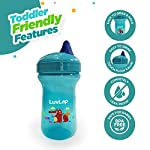 LuvLap Little Fox Sipper/Sippy Cup 300ml, Anti-Spill Design with Easy Sip Spout, 6m+ (Blue)