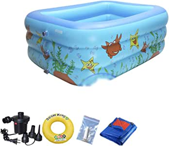 Swimming pool YUHAO(es) Piscina Inflable - Niños Inflable Piscina Rectangular(2.1m): Amazon.es: Deportes y aire libre