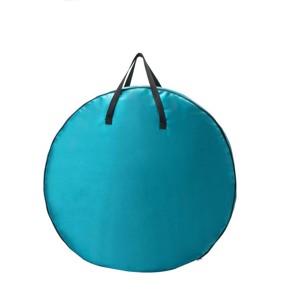 Contenitore per ghirlande di Natale con Manico Blu Circolare 76 cm di Diametro QEES 17 cm di Altezza