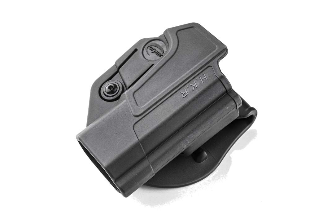 Orpaz 1911 Gun Profassional Holster Polymer With 360 Rotation Paddle & Belt Adjustment Screw, fit All 1911, Made in Israel