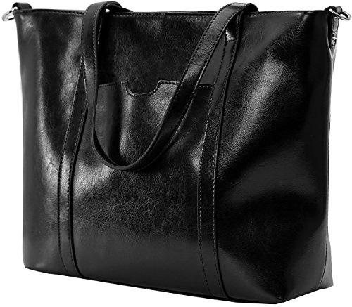 Tote Kenoor Women Fashion Shoulder Handbag Top Handle Satchel for Ladies (Black) by Kenoor