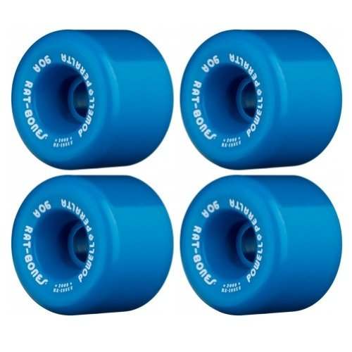 Powell-Peralta ''Rat Bones 60mm 90A Blue Skateboard Wheels (Set of 4) by Powell-Peralta
