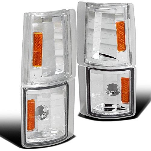 Chrome Light Suburban Marker - Spec-D Tuning 2LC-G2G4-V2-TM Gmc Sierra/Suburban/Yukon/ C10 Corner Lights Chrome