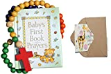 Bigdream Baby Catholic Baptism Gift Set, Includes Baby's First Rosary and Baby's First Book of Prayers, Perfect Baptism, Christening, Shower Gifts