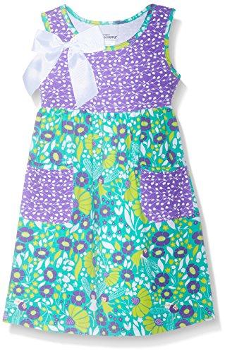 Flap Happy Big Girls' Simone Secret Pocket Dress, Garden Fairies, 6x (Garden Fairy Dress)
