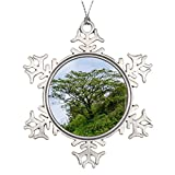 Personalised Christmas Tree Decoration Scale mountain landscape with scale Garden Snowflake Ornaments