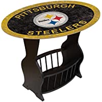 Fan Creations N0818-PIT Pittsburgh Steelers Distressed End Table
