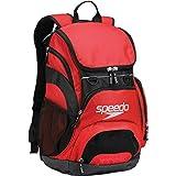 Speedo Large Teamster Backpack, Red/Black, 35-Liter