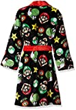 Komar Kids Boys' Big Mario Robe, Black, Large