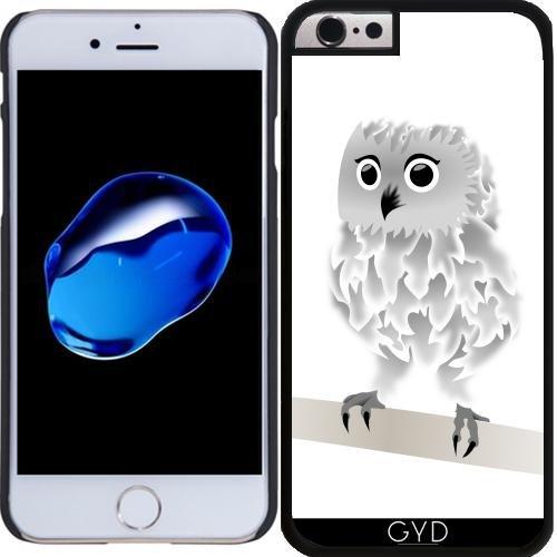 Coque pour Iphone 6 Plus (5,5'') - Hibou Blanc Mignon by Nina Baydur