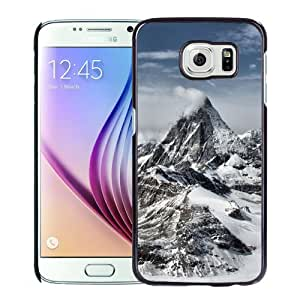 New Fashion Custom Designed Skin Case For Samsung Galaxy S6 Phone Case With Great Snow Mountains Phone Case Cover