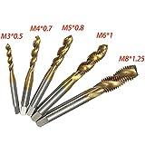 2-3 Business Days Fast Delivery High Speed Steel HSS Screw Thread Metric Spiral Hand Plug Tap Kit M3 M4 M5 M6 M8