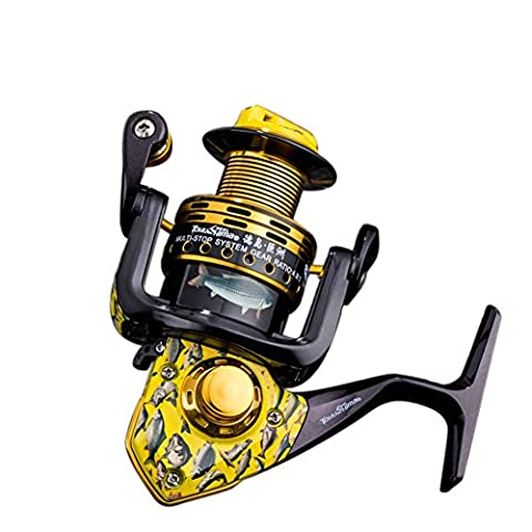 RG Super Hard Fishing Reels Left/Right Interchangeable Saltwater Professional All Metal Strong Corrosion Resistance Double Bearing High Speed Spinning Reel-High End - Ultra Torque Cups