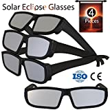 Solar Eclipse Glasses 2017 (4 Pack) - Direct Sun Viewing 100% Safe Eyewear CE and ISO Certified - Protection Shades Designed in USA by CreativeXP (Black)