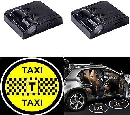 yushuangyi 2pcs Taxi inalámbrico coche puerta proyector LED luz ...