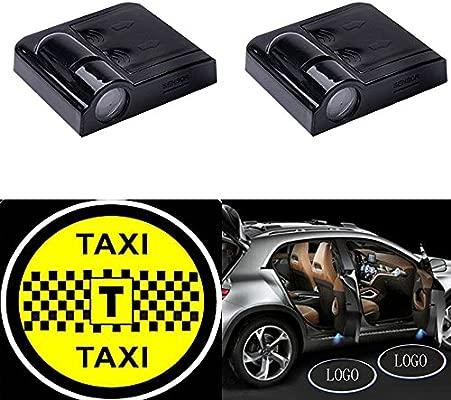 yushuangyi 2pcs Taxi inalámbrico coche puerta proyector LED ...
