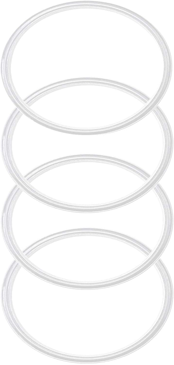 Pack of 4-20/10 oz White Replacement Rubber Lid Ring, Gasket Seals, Lid for Insulated Stainless Steel Tumblers, Cups Vacuum Effect, fit on Renowned Brands - White Model 2020