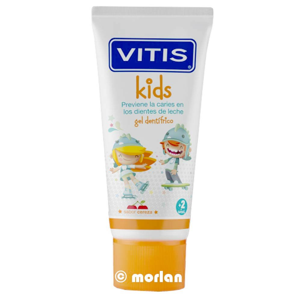 VITIS KIDS GEL DENTRIFICO 50 ML SABOR CEREZA: Amazon.es: Salud y cuidado personal