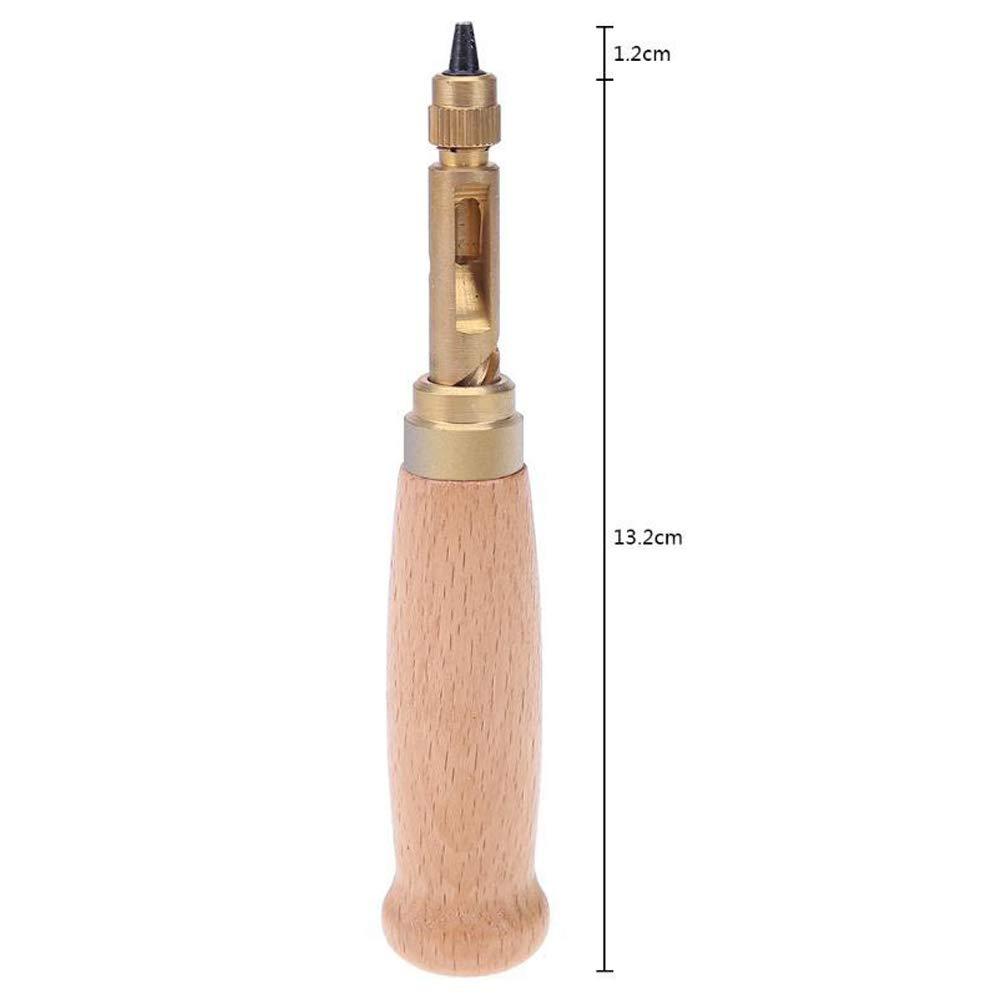 PoeHXtyy Livre Trou Percer Perforation 6 conseils Tailles 1.5-4mm Pour Coudre Ceinture En Cuir Perforateur Papier Artisanat